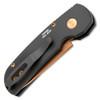 Pro-Tech Calmigo Auto Solid Black Handle Rose Gold Blade 2203-RG