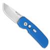 Pro-Tech Calmigo Auto Solid Blue Handle Satin Blade 2203-BLUE