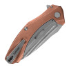 Kershaw Natrix Frame Lock Flipper Copper Handle Stonewash Blade 7007CU