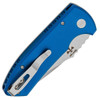 Pro-Tech Les George SBR Solid Blue Handle Stonewash Blade LG401-BLUE
