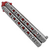 Benchmade Balisong Model 62T Trainer Butterfly Stainless Steel Handle Red Blade