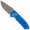 Pro-Tech Les George SBR Textured Blue Handle Acid Wash Blade LG415-BLUE