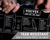 Knafs Pocket Knife Poster Blackout Edition - A Modern Guide to Knives