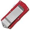 Microtech Exocet D/E Red Stonewash Standard Cali Legal OTF Money Clip 157-10RD
