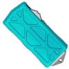 Microtech Exocet D/E Turquoise Stonewash Standard Cali Legal OTF Money Clip 157-10TQ