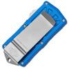 Microtech Exocet D/E Blue Stonewash Standard Cali Legal OTF Money Clip 157-10BL
