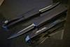 Heretic Knives Manticore E D/E Black Handle Two Tone Blade Prototype H028-10A-PROTO