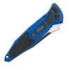 Microtech Socom Elite Auto S/E Blue Black Serrated 160A-2BL