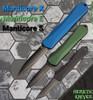 Heretic Knives Manticore E D/E Green Handle DLC Blade H028-6A-GRN