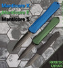 Heretic Knives Manticore E D/E Black Tactical Handle DLC Blade H028-6A-T