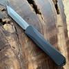 Heretic Knives Manticore E Tanto Black Handle Stonewash Blade H027-2A
