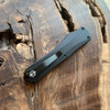 Heretic Knives Manticore E Recurve Black Tactical Handle DLC Blade H029-6A-T
