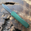 Heretic Knives Manticore E Recurve Green Handle DLC Blade H029-6A-GRN