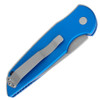 Pro-Tech TR-3 Blue Handle Bead Blast Blade