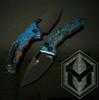 Heretic Knives Medusa Auto Tanto Shipwreck Chemtina Copper Handle DLC Blade H011-6A-CHEM