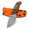 Benchmade Hidden Canyon Hunter Richlite w/ Orange G-10 Handle Stonewash Blade 15017-1
