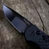 Pro-Tech TR-3 X1M DLC 2020 Black Fish Scale Handle Hand Compound Ground DLC Mirror Polish Blade