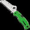 Spyderco Atlantic Salt Lock Back Green FRN Handle Satin LC200N Blade C89FPGR