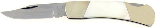 Bear & Son Cutlery Clip Point Lock Back Mother of Pearl 826