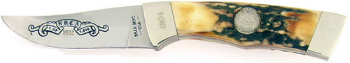 Bear & Son Cutlery N.K.C.A Small Hunter Genuine Burnt Stag 0104