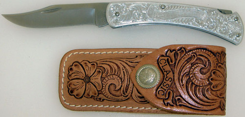 Buck 111 Classic Lock Back Hunter Scroll Engraved