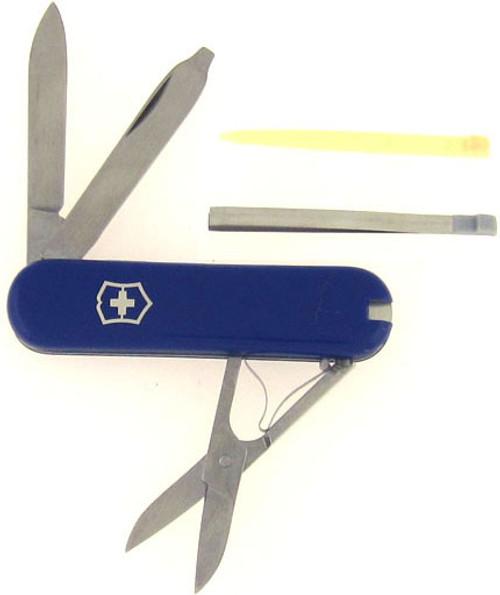 Victorinox Swiss Army Scissor Pen Knife Mr. Peanut Blue
