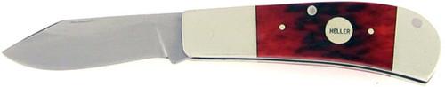 Heller Custom Slip Joint Jigged Red Bone