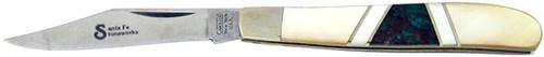 Camillus Santa Fe Stoneworks Peanut Gold Lip Pearl Azurite 710SFSGPA