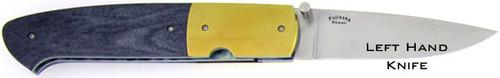 Stan Fujisaka Custom Liner Lock Left Handed Giraffe Bone & Titanium
