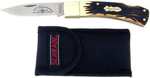 Schrade Uncle Henry Boy Scouts of America Bruin Lock Back 5UHBSAT