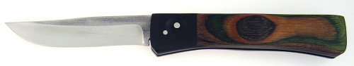 James Huckeba Custom Bowie Auto Lightweight G-10 Pakkawood