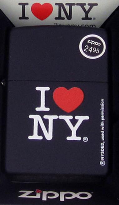 Zippo Lighter Black I Love New York 24798