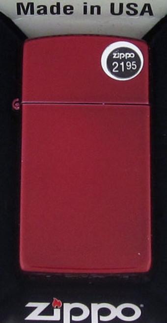 Zippo Lighter Candy Apple Red Slim 24319