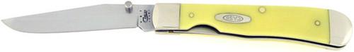 Case XX Trapper Lock w/ Pocket Clip Yellow Chrome Vanadium 30111