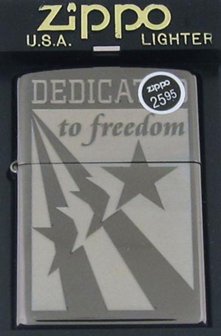 Zippo Lighter Dedicated To Freedom 20416