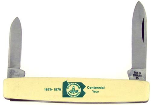 Case XX Centennial Year Pen Knife Ivory Delrin  278