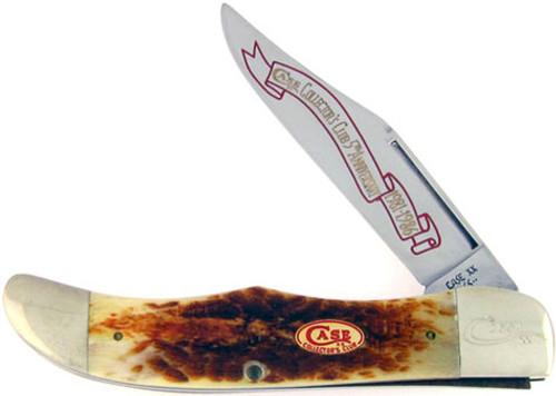 Case XX 5th Anniversary Folding Hunter Second Cut Burnt Stag 6165CC