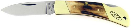 Case XX Lock Back Medium Brass & Stag 051051L