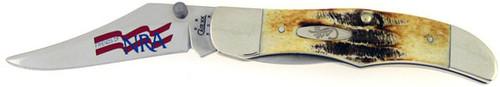 Case XX NRA Mid Folding Hunter 6.5 Stag Bone 1265NRA