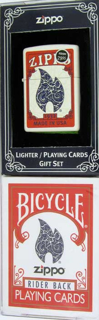 Zippo Bicycle Cards Lighter Gift Set 24880