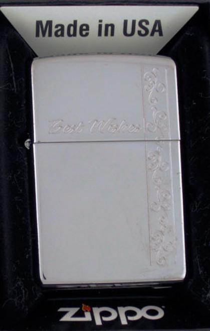 Zippo Lighter Best Wishes 24877