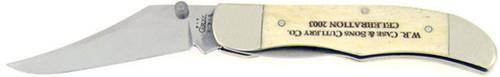 W.R. Case & Sons Cutlery Co. Mid Folding Hunter Smooth White Bone 03754