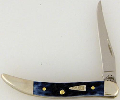 Case XX Tiny Texas Toothpick Navy Blue Jigged Bone 1292