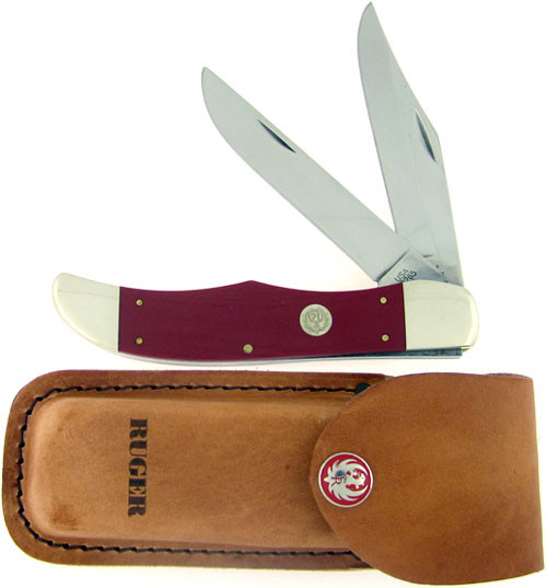 Case XX Ruger Two Blade Hunter Red Micarta 06520
