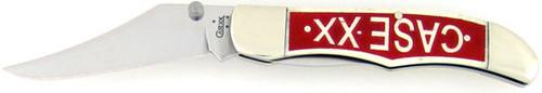Case XX Mid Folding Hunter Smooth White Bone 61265LC