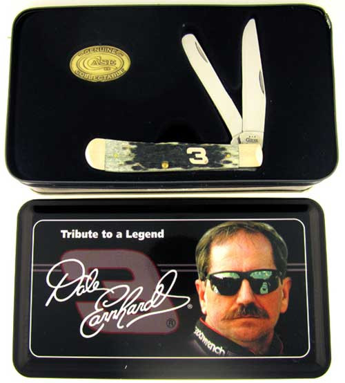 Case XX Dale Earnhardt Trapper Large Pitch Black Bone 03498