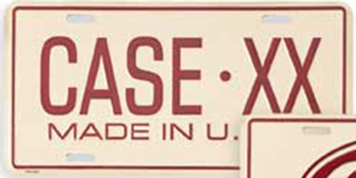 Case XX Collectible License Plate 937