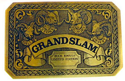 Buck 1981 Grand Slam Belt Buckle 0551-BK-L