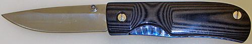 Kevin L. Hoffman Custom Liner Lock Black Linen Micarta