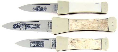 Parker Cutlery Co. Knife The Clantons Gunfighters Series II Dagger Lock Back Set